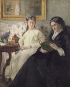 Портрет матери и сестры художницы - Моризо, Берта