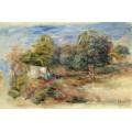 Пейзаж с домами (этюд), 1913 - Ренуар, Пьер Огюст