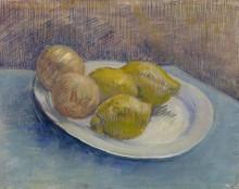 Натюрморт с лимонами на тарелке (Still Life with Lemons on a Plate), 1887 - Гог, Винсент ван