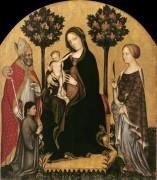 Мадонна с Младенцем на троне со святыми и донатором - Джентиле да Фабриано