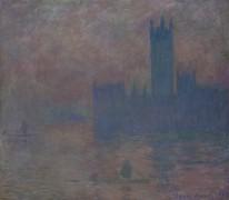 Здания Парламента, эффект тумана, 1903 - Моне, Клод