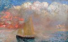Яхта в море - Редон, Одилон