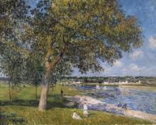 Луг на берегу реки в Томри - Сислей, Альфред