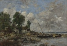Река в Плогастель, 1870 - Буден, Эжен