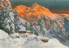Горный пейзаж в зимнюю пору - Арнеггер, Алоис