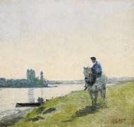 Всадник на берегу реки - Коро, Жан-Батист Камиль