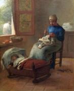 Спящий ребенок - Милле, Жан-Франсуа
