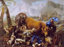 Ноев ковчег после потопа - Кастильоне, Джованни Бенедетто