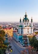 Андреевская церковь. Вид со спуска - Сток