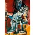 Обнаженная женщина, сидящая в кресле, 1965 - Пикассо, Пабло