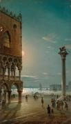 Лунная ночь над площадью Сан-Марко, Венеция - Грубас, Джованни