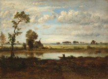 Пейзаж с лодочником - Руссо, Теодор
