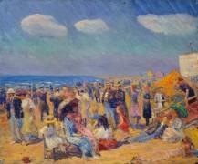 Группа людей на морском берегу - Глакенс, Уильям