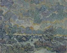 Коттеджи и кипарисы, воспоминания о севере (Cottages and Cypresses, Reminiscence of the North), 1890 - Гог, Винсент ван