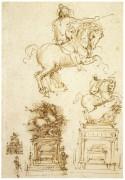 Набросок для памятника Тривульцио - Винчи, Леонардо да
