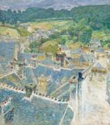 Крыши, Понт-Авен, Бретань, 1897 - Хассам, Фредерик Чайлд