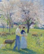 Влюбленные  весной - Мартен, Анри Жан Гийом