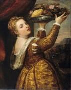 Девушка с подносом фруктов - Тициан Вечеллио