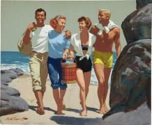 Компания на пляже - Сарноф, Артур