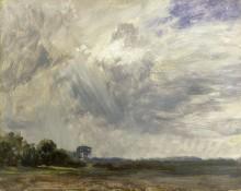 Пейзаж с серыми облаками - Констебль, Джон