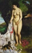 Купальщица с гриффоном (Лиза на берегу Сены) - Ренуар, Пьер Огюст