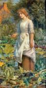 Девушка в саду - Хьюз, Артур
