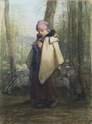 Вяжущая пастушка - Милле, Жан-Франсуа