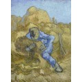 Крестьянин вяжет снопы, по работе Милле (The Sheaf-Binder (after Millet), 1889 - Гог, Винсент ван