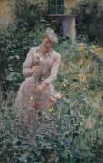 В саду - Клаус, Эмиль