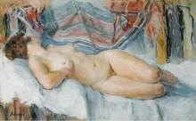 Обнаженная в кровати, 1905 - Лебаск, Анри