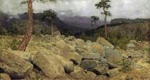 В Крымских горах. 1886 - Левитан, Исаак Ильич