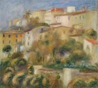 Пейзаж с домами на холме - Ренуар, Пьер Огюст