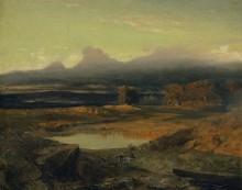 Пейзаж на закате - Бёклин, Арнольд