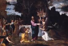 Христос в пустоши и прислуживающие ему ангелы - Карраччи, Аннибале