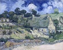 Дома с соломенными крышами (Houses with Thatched Roofs, Cordeville), 1890 - Гог, Винсент ван