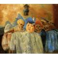 Пьеро и скелеты, 1907 - Энсор, Джеймс