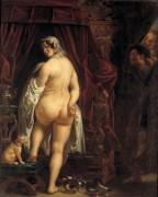 Царь Кандавл показывает свою жену Гигесу - Йорданс, Якоб