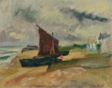 Лодка на берегу моря - Вальта, Луи