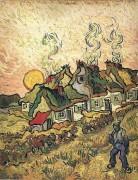 Соломенные коттеджи на солнце. Воспоминание о севере (Thached Cottages in the Sunshine, Reminiscense of the North), 1890 - Гог, Винсент ван