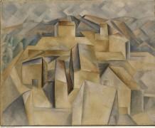 Пейзаж с домами на холме - Пикассо, Пабло