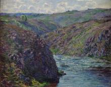 Ущелье реки Крёз в конце дня - Моне, Клод