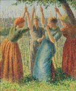 Крестьянки на подвязке гороха - Писсарро, Камиль