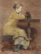 Девушка с фарфоровой статуэткой слона - Хомер, Уинслоу