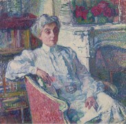 Мария ван Рейссельберге у камина (Maria van Rysselberghe by the Fire-Place), 1913 - Рейссельберге, Тео ван