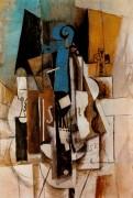 Скрипка в кафе, 1913 - Пикассо, Пабло
