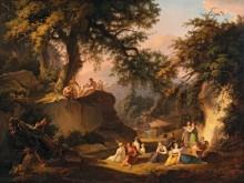 Аркадский пейзаж с фавном - Дис, Альберт Кристоф