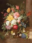 Цветочный натюрморт с фиалками - Забелицкий, Алоис