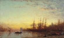 Марсельский порт на закате -  Зим, Феликс
