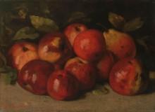 Натюрморт с яблоками и грушами - Курбе, Гюстав