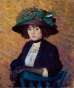 Женщина в шляпке - Глакенс, Уильям